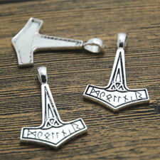 10pcs Thor's hammer Charms Silver tone thor hammer charm pendant 25x37mm