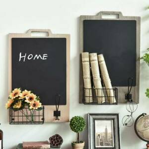 Chalk Board Vintage Shabby Chic Blackboard Wall Retro Memo Reminder Kitchen UK