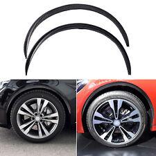 "28.7"" 2pc Carbon Fiber Car Fender Flares Protector Wheel Eyebrow Arch Trim Lips"