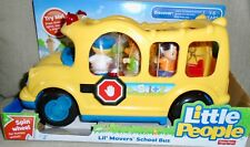 NEW  FISHER  PRICE  LITTLE  PEOPLE LIL'  MOVERS  SCHOOL  BUS