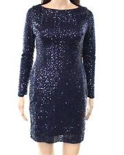 Lauren Ralph Lauren Dress Sequin Navy Party Cocktail Womens Size 12P Petite NWT