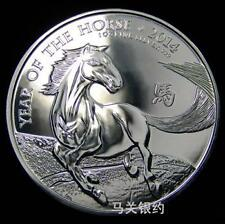 England 2014 Horse 2 Pounds (First Launch) Silver .999 1oz (UNC) Proof Mirror