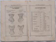 CATALOGO BIANCHERIA PER LA CASA INTIMA CORREDO 1860 ILL