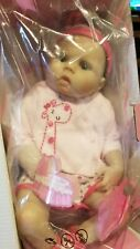 NPK Collection Handmade Pinky Reborn Baby Girl Doll Lifelike Silicone Babies New