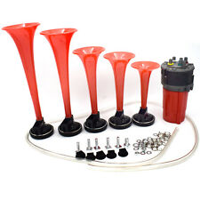 5 Red Tube Air Horn Dukes of Hazzard General Lee 125db 12V For Car Boat