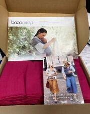 New ListingBoba Wrap Baby Carrier, Original Stretchy Infant Sling-Sangria- New