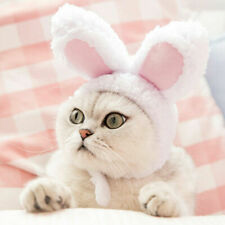 Plush Rabbit Ear Hat Pet Dog Cat Puppy Costumes Woolen Cosplay Christmas Prop