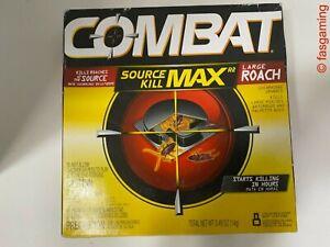 Combat Max Large Roach Killing Bait Stations, roach poison. 8-Pack
