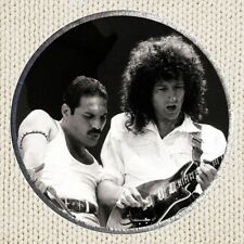 Freddie Mercury & Brian May Patch Picture Embroidered Border Queen Roger Taylor