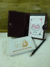 Vintage retro Guide Dog For The Blind Playing Cards In Burgundy Vinyl Case*New