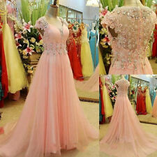 New Women Beaded Long Prom Ball Evening Pageant Celebrate Wedding Party dress