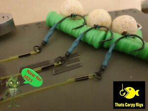 3 x Ronnie Rigs (Spinner Rigs) - Amnesia Boom Korda MASTERCLASS NEW 2021 Popups