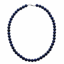 "925 Sterling Silver Lapis Lazuli Bead Necklace for Women Size 18"", 250.00 Ct."