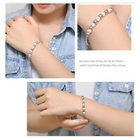 New Fashion Jewelry Women Silver Plated Bead Bracelet Bangle Lady Men Gift Hot