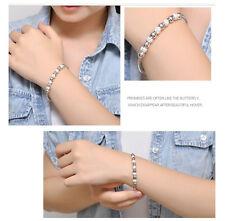 New Fashion Jewelry Women Silver Plated Bead Bracelet Bangle Lady Men Gift Hot