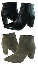 Steve Madden Womens Lidiaa Taupe Slip On Pointed Toe Zipper Casual Booties Boots