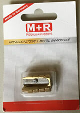 MOBIUS+RUPPERT BRASS BULLET PENCIL SHARPENER MADE IN GERMANY UNOPENED