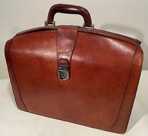 "Vintage BOSCA Leather Partners 17"" Briefcase Lawyers Laptop Tablet Bag Nice!"