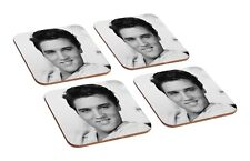Elvis Presley 4 Piece Wooden Coaster Set