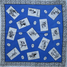 "-Superbe foulard "" la Corrida""  viscose   TBEG vintage scarf 78 x 83 cm"