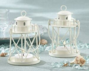 30 By the Sea Lighthouse Tea Light Lantern Wedding Bridal Shower Party Favors