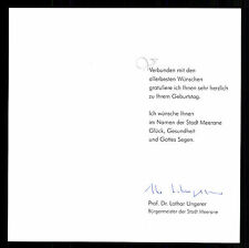 Lothar ungerer original signé maire Meerane # BC G 14468