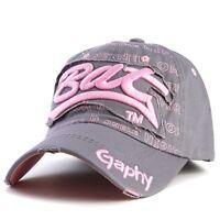 Casquette de baseball bat gaphy réglable NEUf gris rose