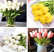 10PCS artificial flores de tulipán ramo realista para Casa Jardín De Mesa