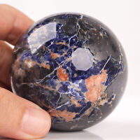 446g 60mm Natural Blue Sodalite Quartz Crystal Sphere Healing Ball Chakra Decor
