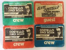 ELVIS COSTELLO ~ 1984 / 1986 vintage BACKSTAGE pass x4 LOT! Tower Theater