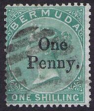 Bermuda 1875 SG17 1d Provisional B1 Cancel Fine Used Cat. £250.00