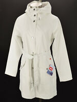 HELLY HANSEN Womens Off White KIRKWALL II Windproof Hooded Raincoat MEDIUM NWT