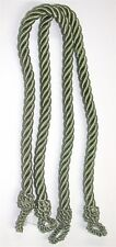 """(2) Conso Twist Rope Tiebacks ~ Sage Green ~ 23"""" L ~ OVERSTOCK BLOWOUT **NEW**"""