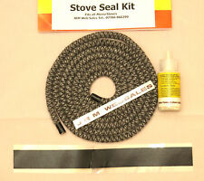 8mm Multifuel Stove Door Sealing kit & Body part sealing kit - Soft Rope & glue