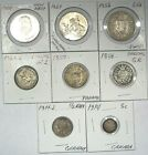World Silver Coin Lot  Panama Great Britain Canada Swiss Germany  #101508