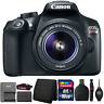 Canon EOS Rebel T6 Digital SLR Camera with 18-55mm Lens and Accessory Bundle