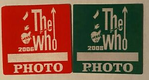 The Who authentic 2006-08 Greatest hits tour satin Backstage Pass photo Gren RED
