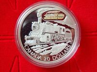 2002 Canadian Transportation Series $20 Silver Coin - The D10 Locomotive  No Tax