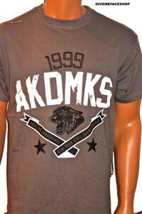 Akademiks t shirt, mens urban hip hop 99 charcoal teeshirts, streetwear bling