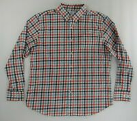 Southern Tide Mens Dress Shirt XL Red White Blue Plaid Long Sleeve Button Down