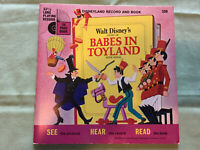 Vintage 1968 Walt Disney's Story of Babes in Toyland Book & Record Read Along 🌟