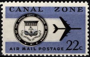 Canal Zone - 1976 - 22 Cents Canal Zone Seal & Jet Plane Airmail Issue #C51 Mint