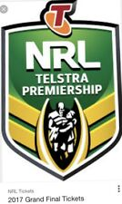 2017 NRL GRAND FINAL - 3 GOLD MEMBERS TICKETS - EXCELLENT SEATS Side by Side