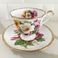 Vintage Roslyn Fine Bone China Summer Beauty Floral Tea Cup & Saucer Set, UK