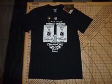 ADULT MEDIUM BLACK REEBOK NHL LA KINGS 2 TIME STANLEY CUP CHAMPIONS T-SHIRT  - c3bb27740