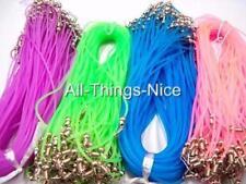 """Silicon NYLON 18"""" Necklace COLOUR Mix Pendant String Fashion Jewellery Cord 20"""