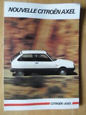 CITROEN AXEL 1984 1985 French Mkt sales brochure - Oltcit interest