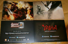 2 X COMPUTER GAMES POSTCARDS - DYNASTY WARRIORS 8 AND YAIBA - NINJA GAIDEN Z