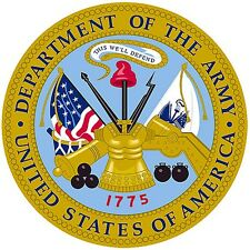 """US Army Emblem 8"""" x 8"""" Printed Fabric Quilting Block COTTON Fabric"""