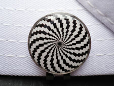 HypnoSpiral Metal Golf Ball Marker - W/Bonus Magnetic Hat Clip